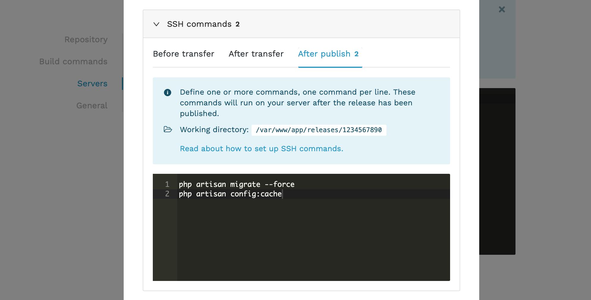 Laravel ssh commands
